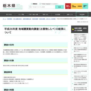 平成26年度 地域購買動向調査(お買物しらべ)