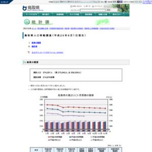 鳥取県人口移動調査結果速報(平成26年8月1日現在)