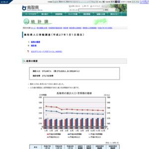 鳥取県人口移動調査結果速報(平成27年1月1日現在)