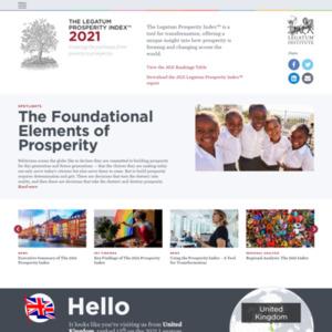 The 2013 Legatum Prosperity Index