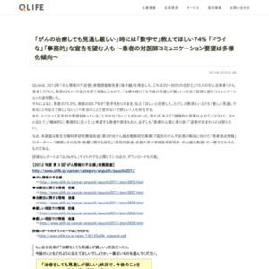 2012年「がん情報の不足感」実態調査報告書(後半編)