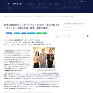ランスタッドアワード2012 「エンプロイヤーブランド・企業魅力度」調査