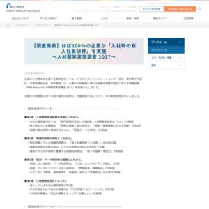 人材開発実態調査 2017