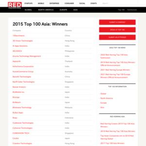 2015 Red Herring Asia Top 100 Winners
