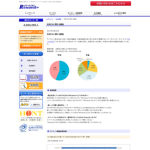 利用OSに関する調査