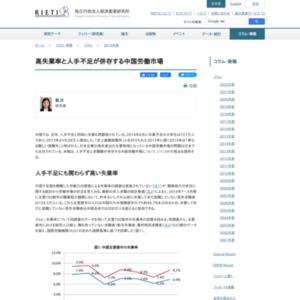高失業率と人手不足が併存する中国労働市場