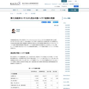 第三次経済センサスから見る中国ハイテク産業の発展