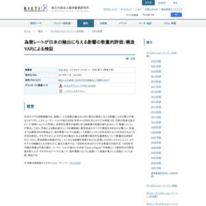 為替レートが日本の輸出に与える影響の数量的評価:構造VARによる検証