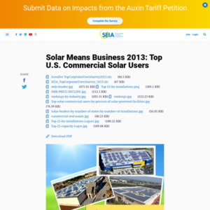 Solar Means Business 2013: Top U.S. Commercial Solar Users