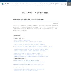 47都道府県別 生活意識調査2018(生活・家族編)