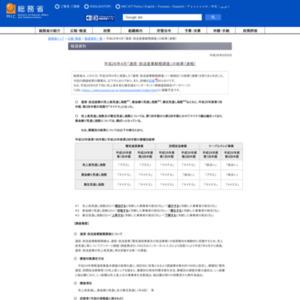 平成26年4月「通信・放送産業動態調査」の結果(速報)