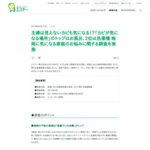 家庭における梅雨時期の湿気・カビに関する意識調査