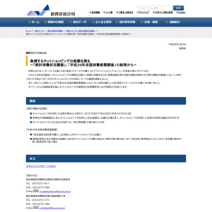 統計トピックスNo.92 急増するネットショッピングの実態を探る