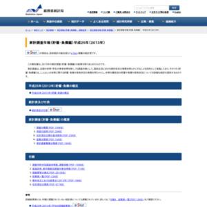 家計調査年報 貯蓄・負債編(平成25年(2013年))