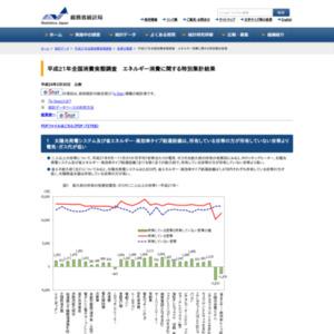 平成21年全国消費実態調査 エネルギー消費に関する特別集計結果
