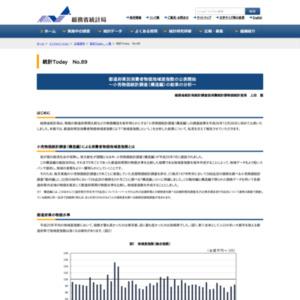 統計Today No.89 「都道府県別消費者物価地域差指数の公表開始 ~小売物価統計調査(構造編)の結果の分析~」