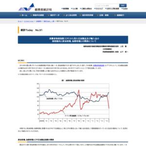 統計Today No.91 「消費者物価指数(CPI)から見た石油製品及び輸入品の価格動向と原油相場、為替相場との関係について」