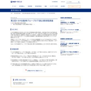 第2回トヨタ自動車グループの下請企業実態調査