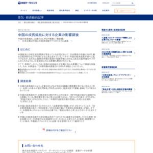 中国の成長鈍化に対する企業の影響調査