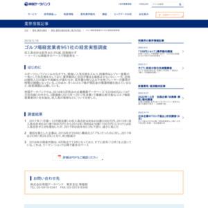 ゴルフ場経営業者951社の経営実態調査
