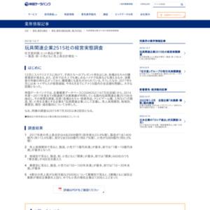 玩具関連企業2515社の経営実態調査