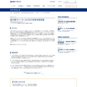 国内菓子メーカー522社の経営実態調査