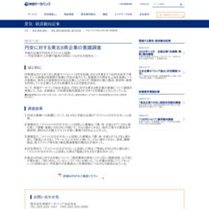 円安に対する東北6県企業の意識調査
