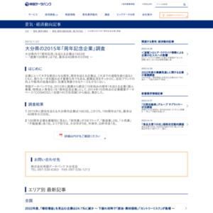 大分県の2015年「周年記念企業」調査