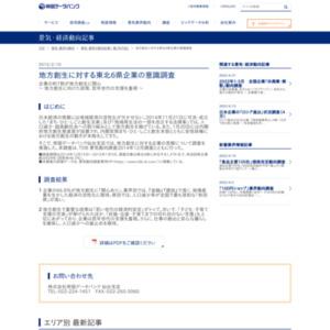 地方創生に対する東北6県企業の意識調査
