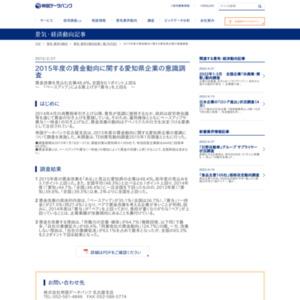 2015年度の賃金動向に関する愛知県企業の意識調査