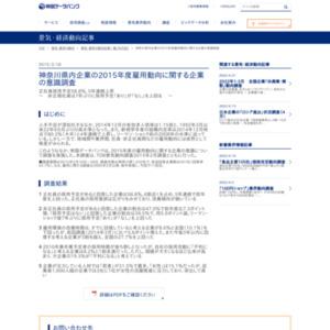 神奈川県内企業の2015年度雇用動向に関する企業の意識調査