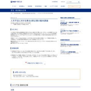 人手不足に対する東北6県企業の動向調査