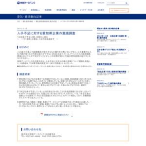 人手不足に対する愛知県企業の意識調査