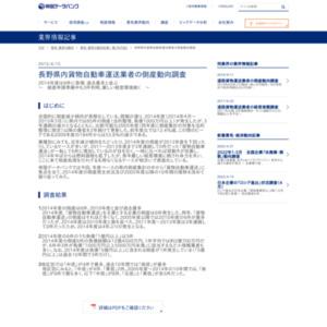 長野県内貨物自動車運送業者の倒産動向調査