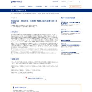 東北6県「休廃業・解散」動向調査(2014年度)