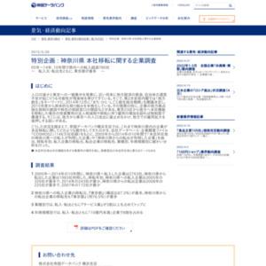 神奈川県 本社移転に関する企業調査