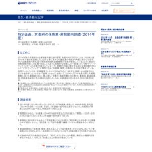 京都府の休廃業・解散動向調査(2014年度)