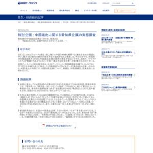 中国進出に関する愛知県企業の実態調査