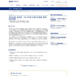 鳥取県 2014年度 企業の休廃業・解散動向調査