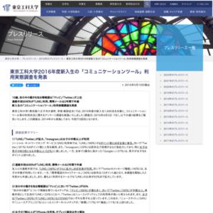2016年度新入生の「コミュニケーションツール」利用実態調査