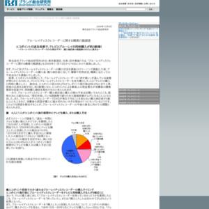 ブルーレイディスクレコーダ-に関する購買行動調査