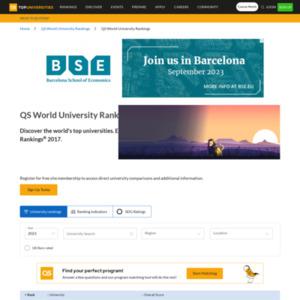 QS World University Rankings 2016/17