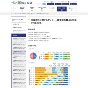 投資信託に関するアンケート調査