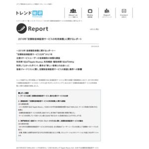 2016年 音楽聴取実態に関するレポート