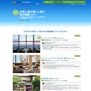 外国人旅行者に人気の宿泊施設 Top 20