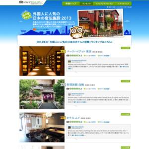 外国人旅行者に人気の宿泊施設2013