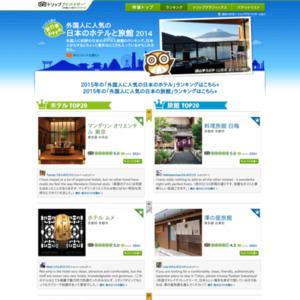 外国人に人気の日本のホテルと旅館2014