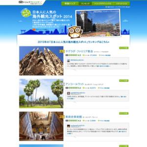 日本人に人気の海外観光スポット2014