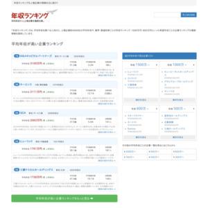 ツカエル!転職サイト比較.com 年収ランキング