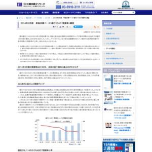 2014年3月期 単独決算ベース「銀行114行 預貸率」調査